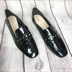 NWT Nine West Xiamarao Loafers Black Studded
